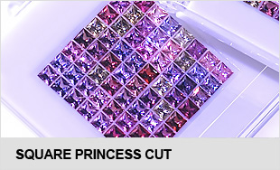 High-precision calibrared  square princess cut natural gemstones